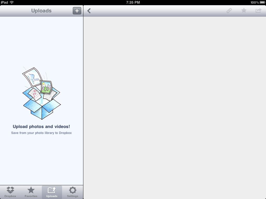 dropbox app for ipad