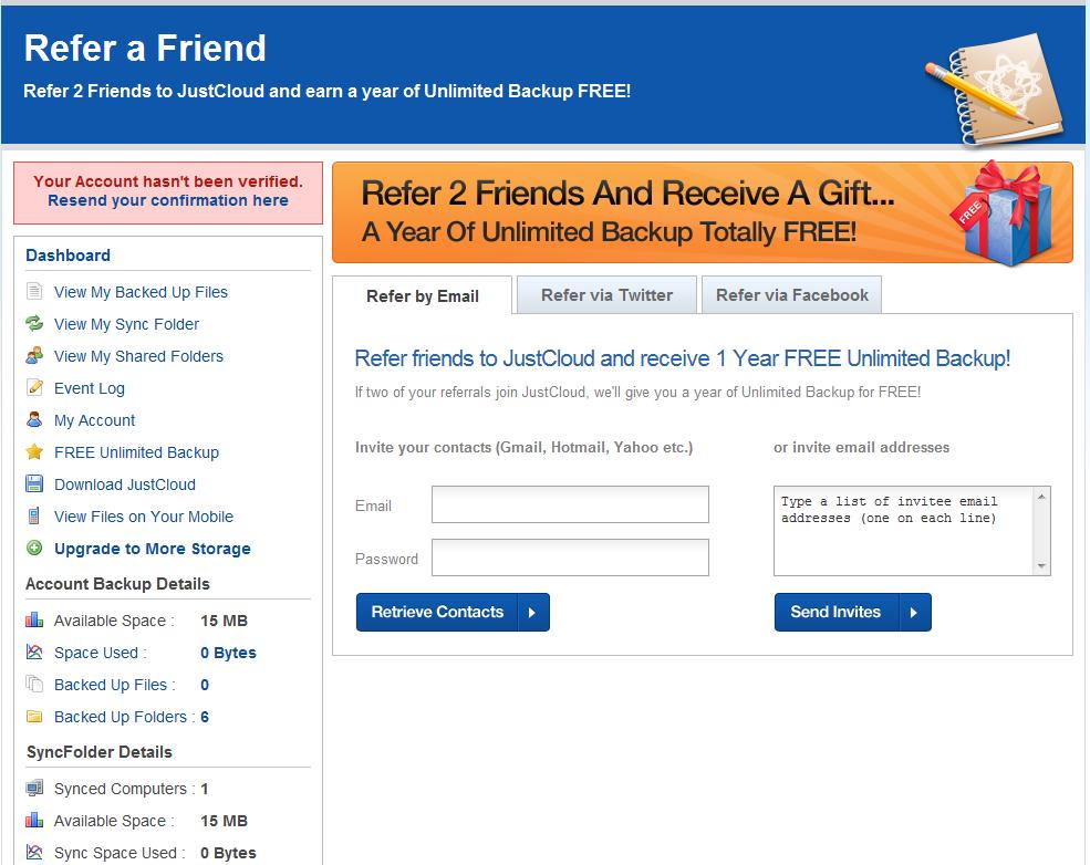 earn free unlimited online backup
