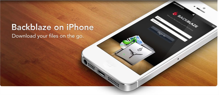 backblaze mobile app for iphone